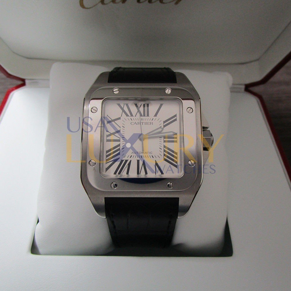 f3b2b3b5e Cartier Santos 100 W20073X8 Stainless Steel Silver 38mm Automatic watch Mint