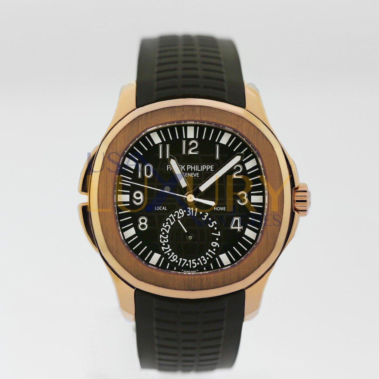 Patek Philippe Aquanaut Travel Time 41mm Rose Gold 5164r 001 Unworn