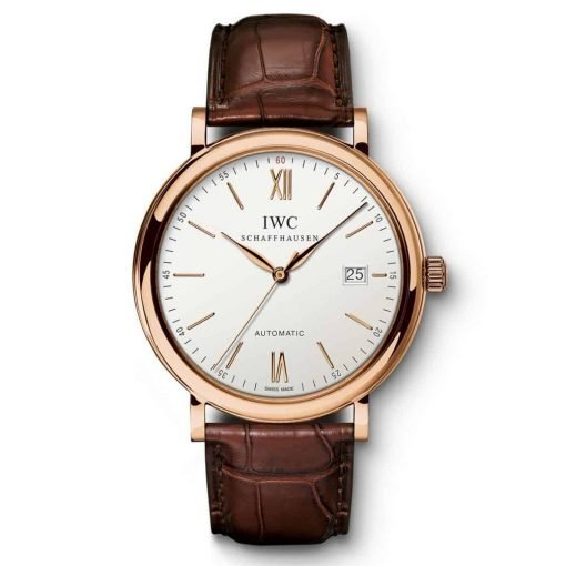 IWC Portofino Automatic Silver Dial 18kt Rose Gold Watch IW356504