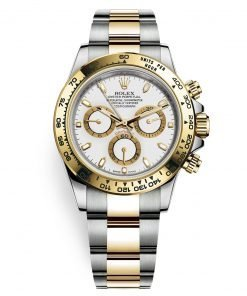 Rolex Cosmograph Daytona 116503 White Index Oyster Steel and Gold Mens Watch