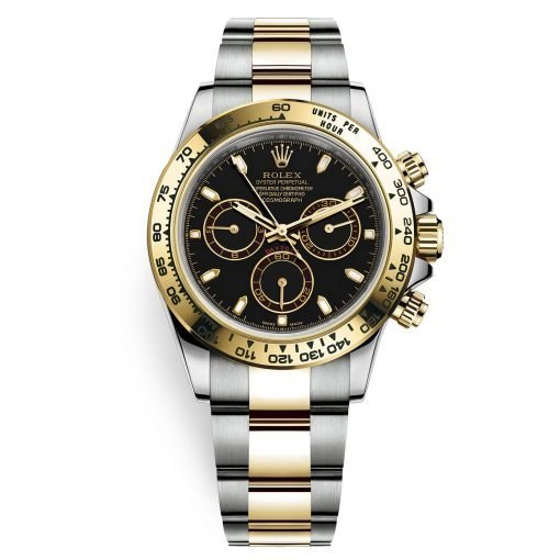 Rolex Cosmograph Daytona 116503 Black Index Oyster Steel and Gold Mens Watch