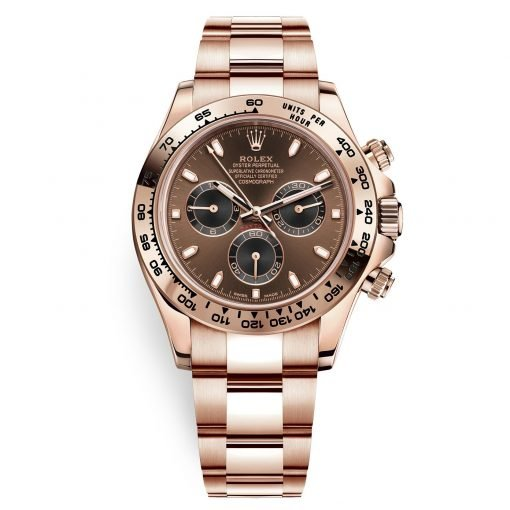 Rolex Cosmograph Daytona 116505 Chocolate and Black Index Everose Gold Mens Watch