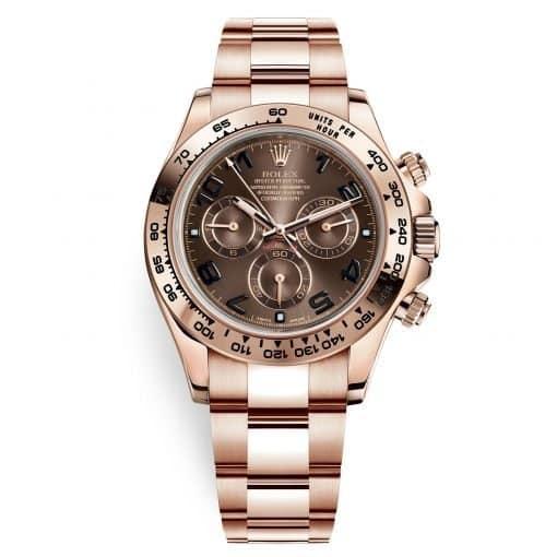 Rolex Cosmograph Daytona 116505 Chocolate Arabic Dial Everose Gold Mens Watch