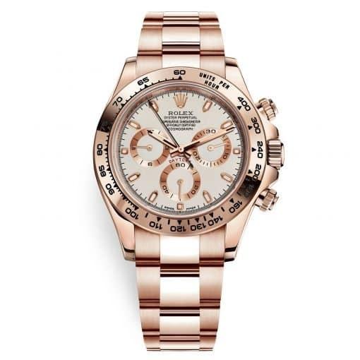 Rolex Cosmograph Daytona 116505 Ivory Index Everose Gold Mens Watch
