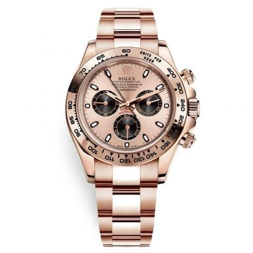 Rolex Cosmograph Daytona 116505 Pink and Black Index Everose Gold Mens Watch