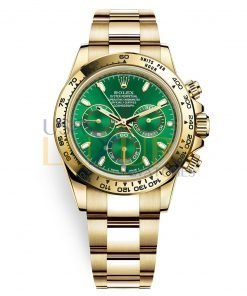 Rolex Cosmograph Daytona 116508 Green Dial 18K Yellow Gold Oyster Men's Watch