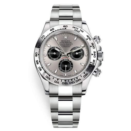 Rolex Cosmograph Daytona 116509 Steel and Black Oyster White Gold Mens Watch