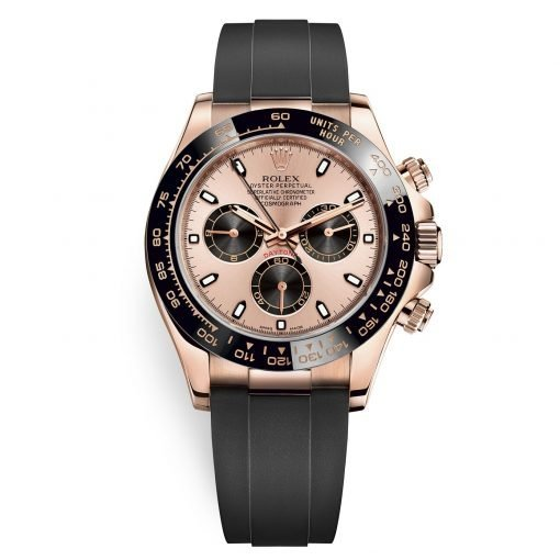 Rolex Cosmograph Daytona 116515LN Pink and Black Oysterflex Everose Gold Mens Watch