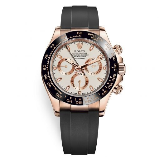 Rolex Cosmograph Daytona 116515LN Ivory Oysterflex Everose Gold Mens Watch