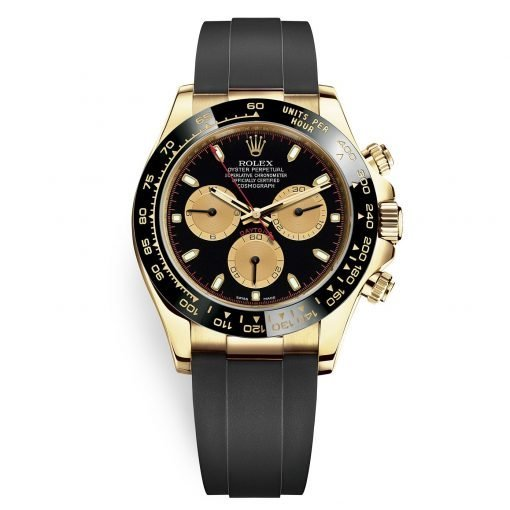 Rolex Cosmograph Daytona 116518LN Paul Newman Oysterflex Yellow Gold Mens Watch