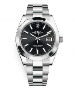 Rolex Datejust 126300 Black Index Oyster 41mm Stainless Steel Mens Watch
