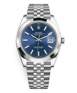 Rolex Datejust 126300 Blue Index Jubilee 41mm Stainless Steel Mens Watch