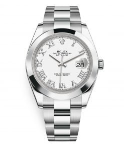 126300 White Roman Oyster Rolex Datejust 41mm Stainless Steel Mens Watch