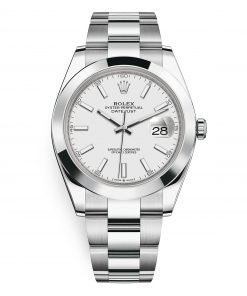 Rolex Datejust 126300 White Index Oyster 41mm Stainless Steel Mens Watch