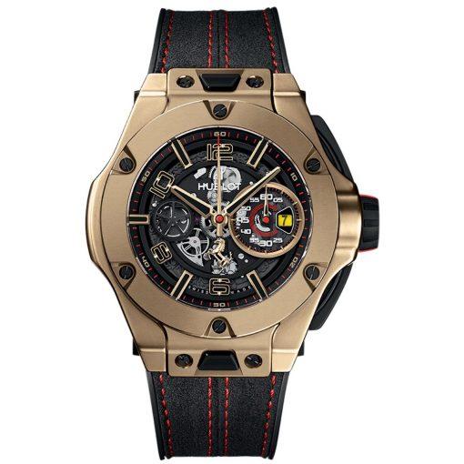 Hublot Big Bang UNICO Ferrari 45mm Mens Watch 402.mx.0138.wr Magic Gold