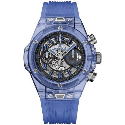 Hublot Big Bang UNICO 45mm Mens Watch 411.jl.4809.rt Blue Sapphire