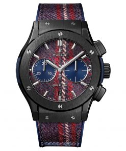 Hublot Classic Fusion Chronograph 45mm Mens Watch 521.CM.2703.NR.ITI17 Tartan Ceramic