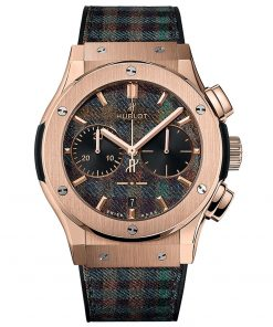 Hublot Classic Fusion Chronograph 45mm Mens Watch 521.OX.2705.NR.ITI17 Tartan King Gold