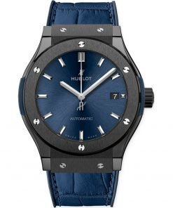 Hublot Classic Fusion Automatic 38mm Midsize Watch 565.cm.7170.lr Ceramic Blue