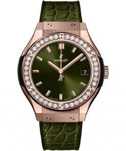 Hublot Classic Fusion Quartz 33mm Ladies Watch 581.ox8980.lr.1104