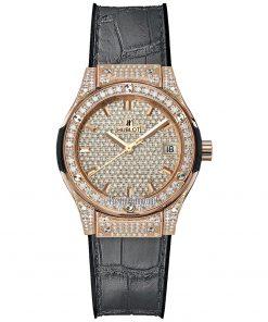 Hublot Classic Fusion Quartz 33mm Ladies Watch 581.ox.9010.lr.1704