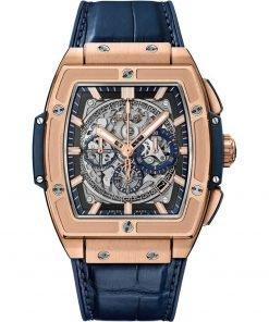 Hublot Spirit Of Big Bang Chronograph 45mm Mens Watch 601.ox.7180.lr King Gold Blue