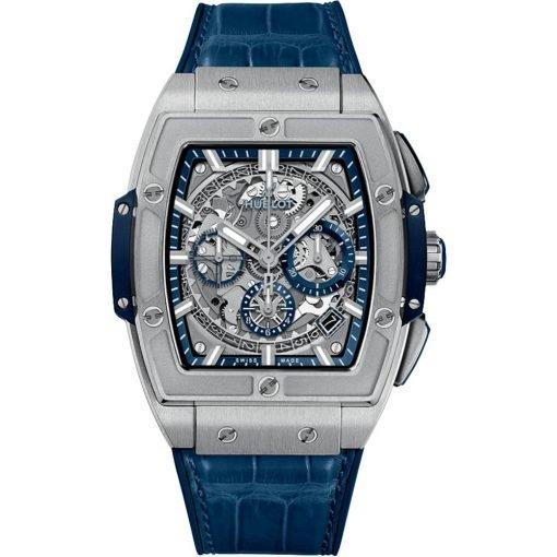 Hublot Spirit Of Big Bang Chronograph 42mm Mens Watch 641.nx.7170.lr Titanium Blue