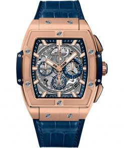 Hublot Spirit Of Big Bang Chronograph 42mm Mens Watch 641.ox.7180.lr King Gold Blue