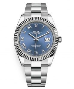 Rolex Datejust 126334 Blue Roman Oyster 41mm Stainless Steel Mens Watch