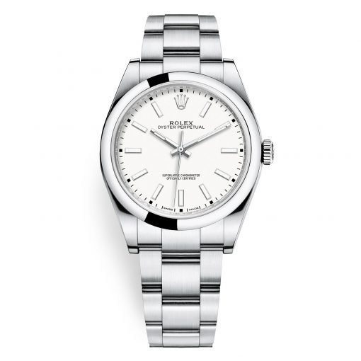Rolex 114300 White Oyster Perpetual 39mm Watch
