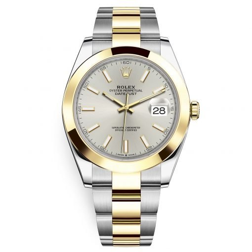 Rolex Datejust 41mm 126303 Silver Index Oyster Steel and Yellow Gold Mens Watch