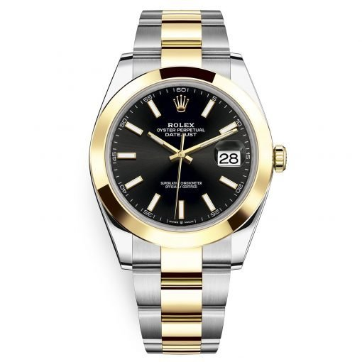 Rolex Datejust 41mm 126303 Black Index Oyster Steel and Yellow Gold Mens Watch