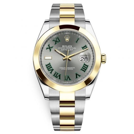 Rolex Datejust 41mm 126303 Slate Roman Oyster Steel and Yellow Gold Mens Watch