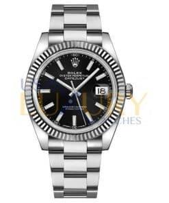 Rolex Datejust 126334 White Gold/Steel Black Index Dial Fluted Bezel Oyster Bracelet