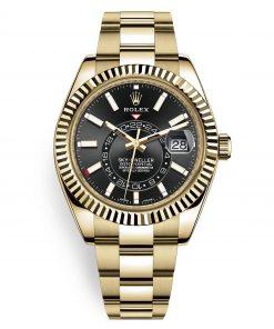 Rolex 326938 Sky Dweller 42mm Black Index Watch