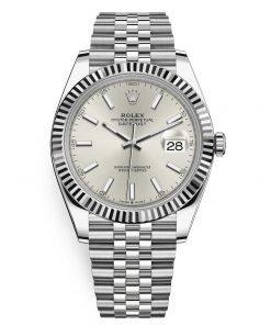 Rolex Datejust 126334 Silver Index Jubilee 41mm Stainless Steel Mens Watch