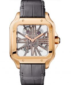 SANTOS DE CARTIER PINK GOLD 39.8 mm WATCH WHSA0010