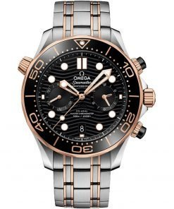 Omega Seamaster Diver 300m Co-Axial Master Chronometer Chronograph Watch 210.20.44.51.01.001
