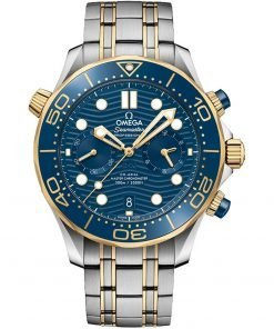 Omega Seamaster Diver 300m Co-Axial Master Chronometer Chronograph Watch 210.20.44.51.03.001