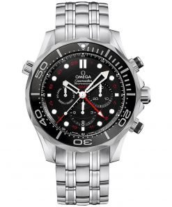 Omega Seamaster Diver 300m Co-Axial GMT Chronograph Watch 212.30.44.52.01.001