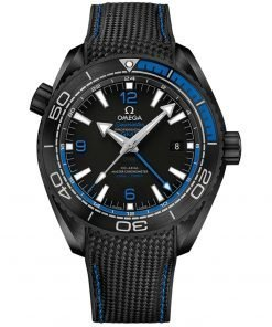 Omega Planet Ocean 600m Co-Axial Master Chronometer GMT Watch 215.92.46.22.01.002 DEEP BLACK