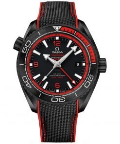 Ocean 600m Co-Axial Master Chronometer GMT Watch 215.92.46.22.01.003 DEEP BLACK Omega Planet