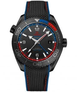 Omega Planet Ocean 600m Co-Axial Master Chronometer GMT Watch 215.92.46.22.01.004 ETNZ Deep Black