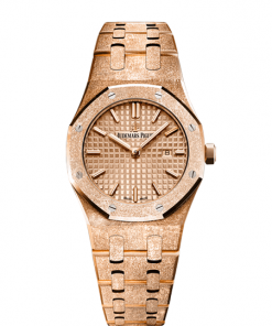 AUDEMARS PIGUET ROYAL OAK FROSTED GOLD QUARTZ 67653OR.GG.1263OR.02
