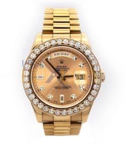 Rolex 218235 Day-Date II President 41mm Everose Pink Diamonds Watch