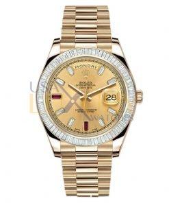 Rolex Day-date II Yellow Gold President 218398 BR Diamond Bazel