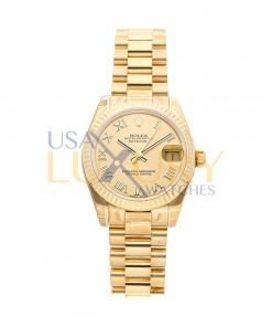 Rolex 178278 Datejust 31mm 18k Yellow Gold Watch