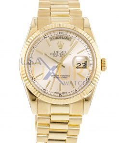 Rolex Day-Date 118238 Champagne Dial 18K Yellow Gold President Automatic Watch