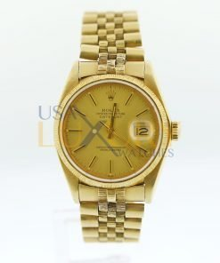 Rolex 18K Yellow Gold Datejust 160788 Watch