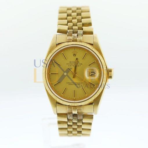 Rolex 18K Yellow Gold Datejust 160788 Watch